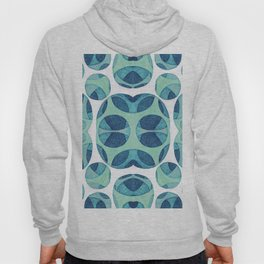 Circle web of connectiveness pattern in mint & navy Hoody