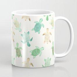 Gilded Jade & Mint Turtles Coffee Mug
