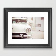 On The Car Framed Art Print