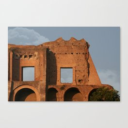 Windows and Clouds Palatine Ruins Rome Canvas Print