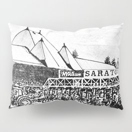 """The Starting Gate"" Saratoga Springs Race Course Track Pillow Sham"