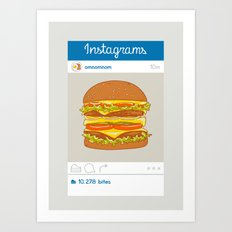 Instagrams Art Print
