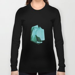3D turquoise flying object  Long Sleeve T-shirt