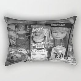 #BarbieLou with tomodachi b/w Rectangular Pillow