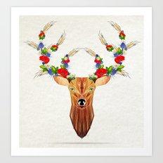 deer spring Art Print