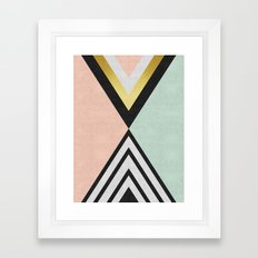 Minimalist fashion and golden I Framed Art Print