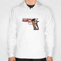 gun Hoodies featuring gun by mark ashkenazi