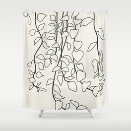 Minimalist Vines II Shower Curtain