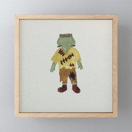 Trick or Treat Halloween Toddler Frankenstein Monster Framed Mini Art Print