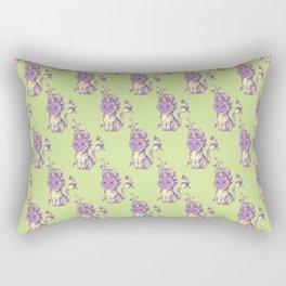 Lilac Cat Wears Tibracorn Onesie Rectangular Pillow