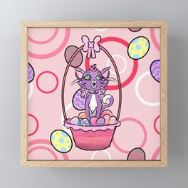 Easter Hissy Framed Mini Art Print