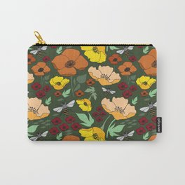Flower Petals and Bees Carry-All Pouch