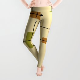Rounded Rectangles Squares Earth Tones 1 Leggings