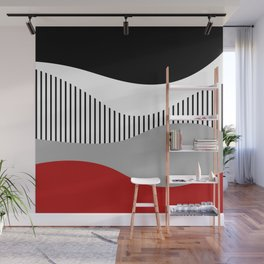 Colorful waves design 2 Wall Mural