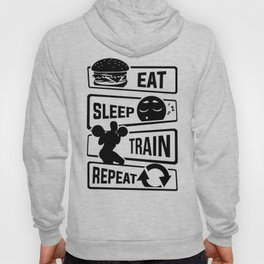 Eat Sleep Train Repeat - Fitness Bodybuilder Power Hoody