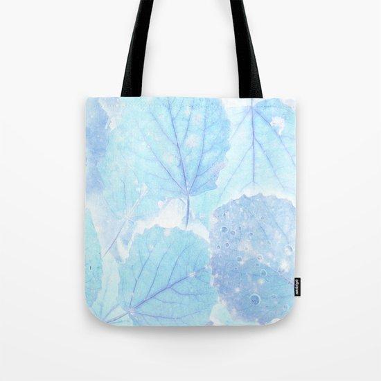 Blue autumn leaves Tote Bag