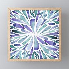 Symmetrical drops - purple and turquoise Framed Mini Art Print