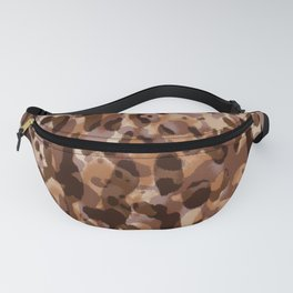 leopard in natural layers Fanny Pack