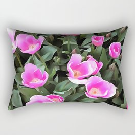 Delicate Pink Tulips Of Istanbul Rectangular Pillow