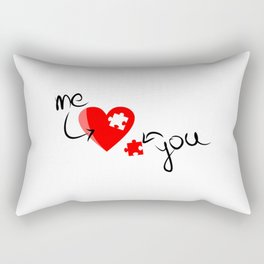 Me and You Missing Piece to my Heart Design Rectangular Pillow