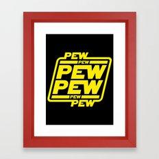 Pew Pew Pew Framed Art Print