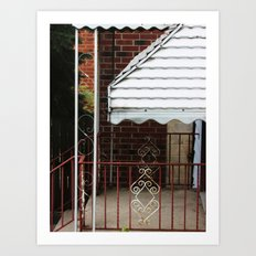 vintage porch  Art Print