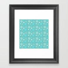 Snowflake sky Framed Art Print