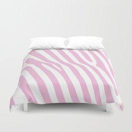 Baby Pink Zebra Stripes Duvet Cover