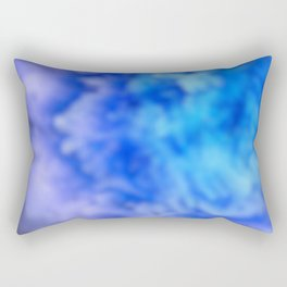blue and purple ombre clouds Rectangular Pillow