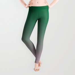 Cadmium Green to Cotton Candy Pink Linear Gradient Leggings