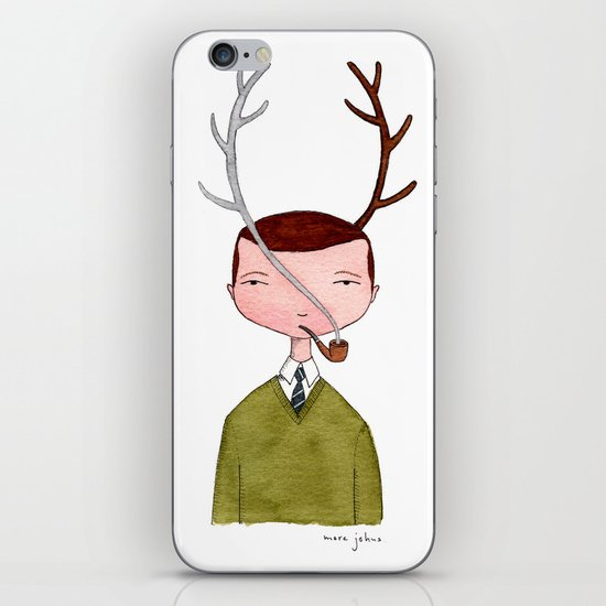 One real antler, one imagined iPhone & iPod Skin