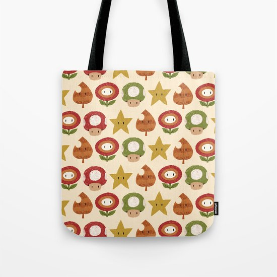 mario items pattern Tote Bag