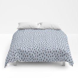 Wild spots/ Grey & blue Comforters