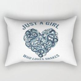 Just A Girl Who Loves Snakes Heart Rectangular Pillow