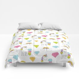Cute unicorns Comforters