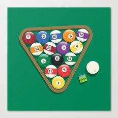 Billiard Balls Rack - Boules de billard Canvas Print