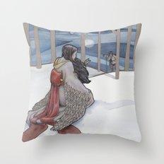 The Crane Wife Throw Pillow