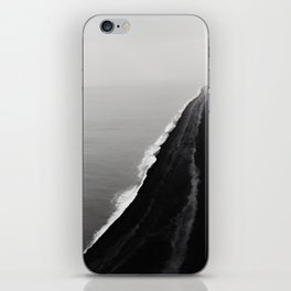 BLACK SAND BEACH iPhone Skin