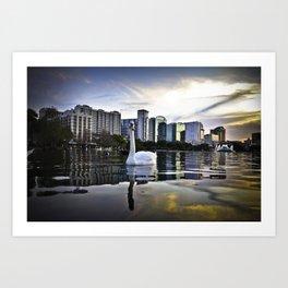Lake Eola - Orlando, FL Art Print