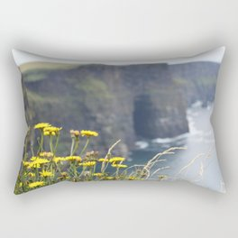 Flowers by the Cliffs of Moher Rectangular Pillow