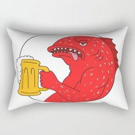 Coral Trout Beer Mug Circle Drawing Rectangular Pillow