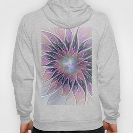 Fantasy Flower, Colorful Abstract Fractal Art Hoody