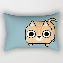 Cat Loaf - Orange Tabby Kitty Rectangular Pillow
