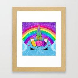 Rainbow Sparkle Unicorn Framed Art Print