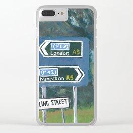 Watling Street Roman Road Clear iPhone Case