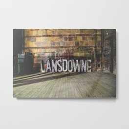 Lansdowne Letters Metal Print