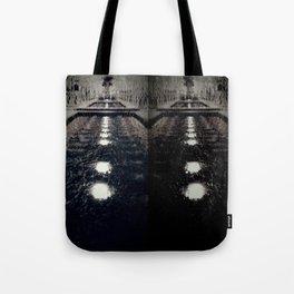 Darker Still - Fountain in Midnight and Black Tote Bag