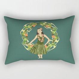 Hula Pineapple Wreath Rectangular Pillow
