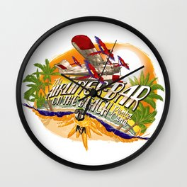 Airliner Bar On The Beach Wall Clock