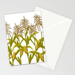 Corn maize pattern Stationery Cards
